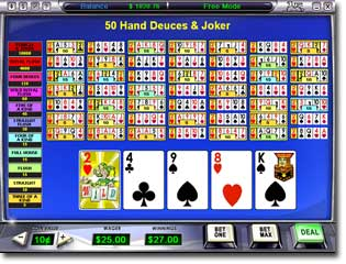Download 50 Hand Deuces & Joker